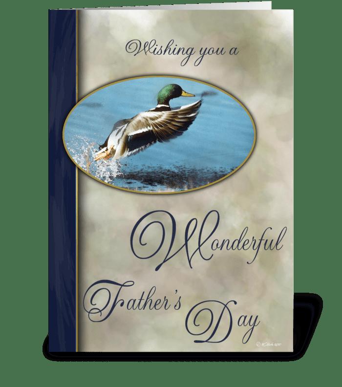 Father's Day Card with Mallard greeting card