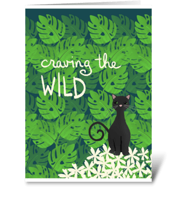 Craving the Wild  greeting card