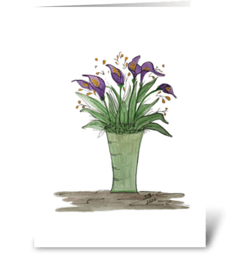 Purple Calla Lily All Occasion Card greeting card