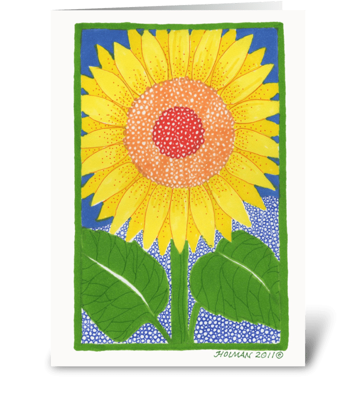 Sunflower Note Card greeting card