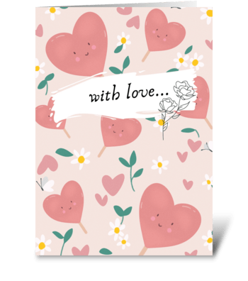 With Love Valentine/Wedding Anniversary  greeting card