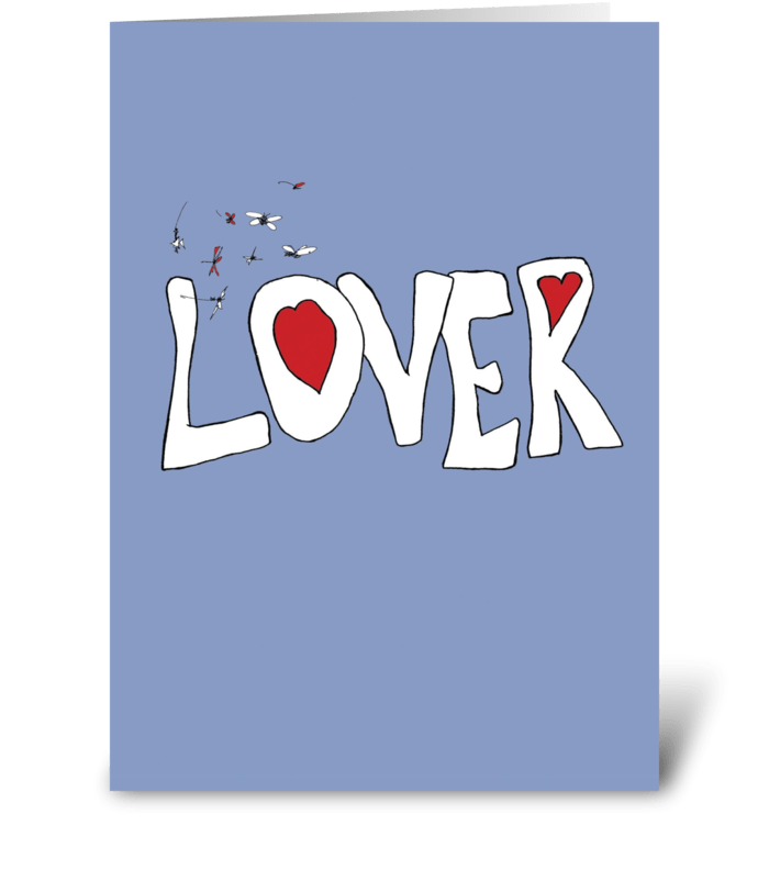 Lover greeting card