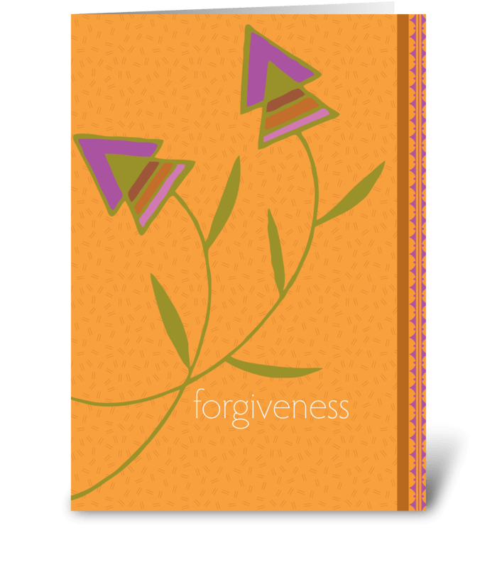 forgiveness greeting card