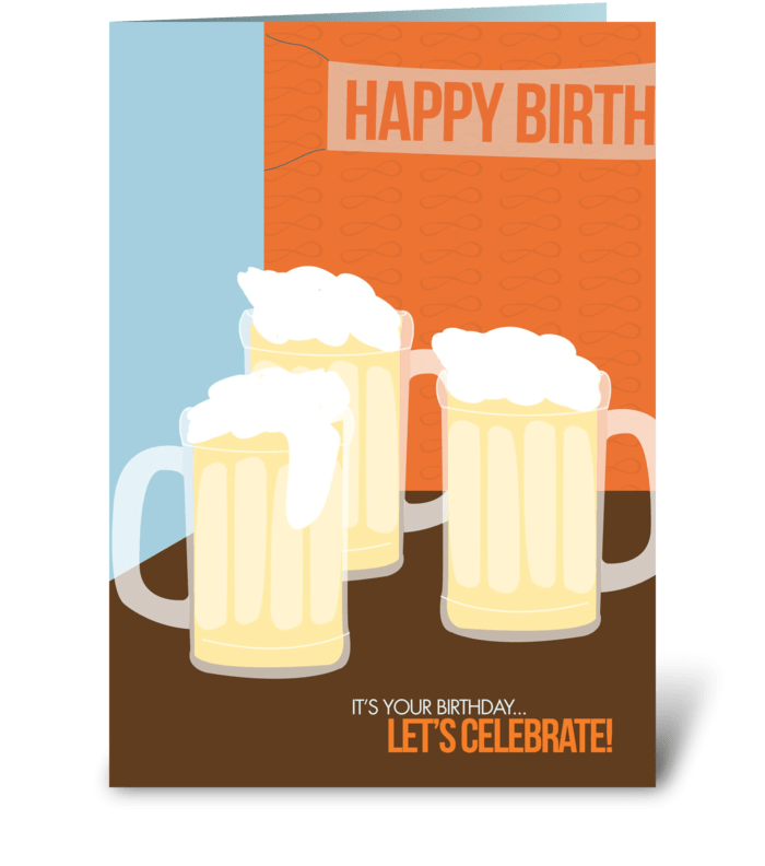 Bday cheers greeting card