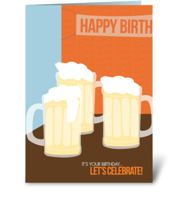Bday cheers greeting card