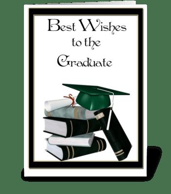 Graduate Books, Cap, Diploma greeting card