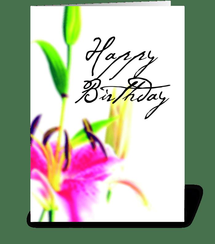Birthday Dream greeting card