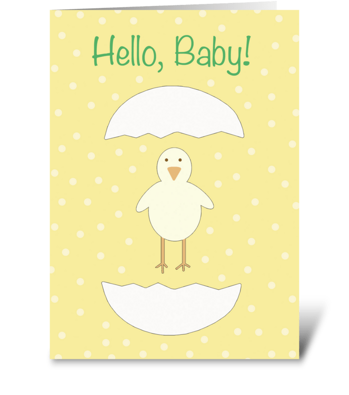 Hello, Baby! (Chick) greeting card