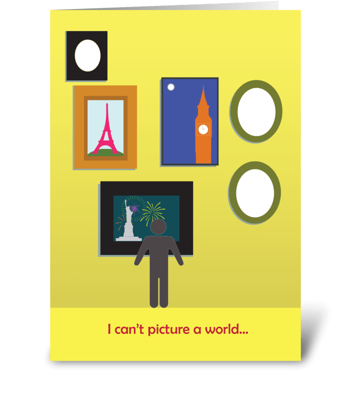 Picture a World greeting card