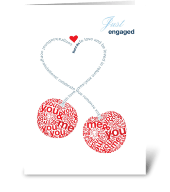 Just Engaged Cherries greeting card