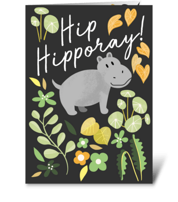 Hip Hipporay greeting card