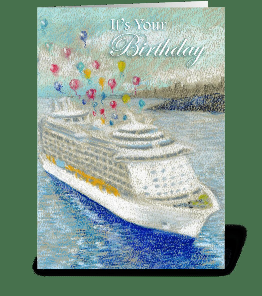 Cruise Ship & Ballons Birthday