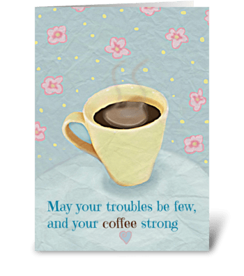 Coffee Blessing greeting card