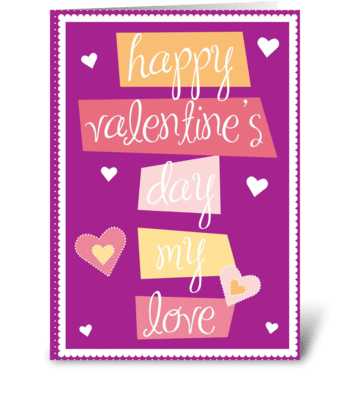 Happy Words greeting card