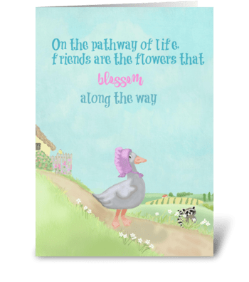 Friends are the flowers greeting card