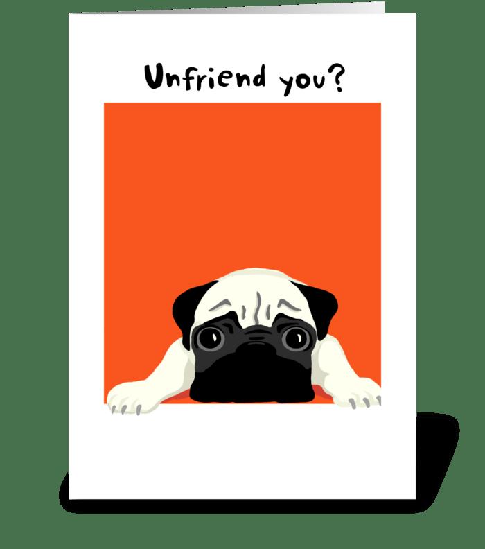 Pug Friendship greeting card