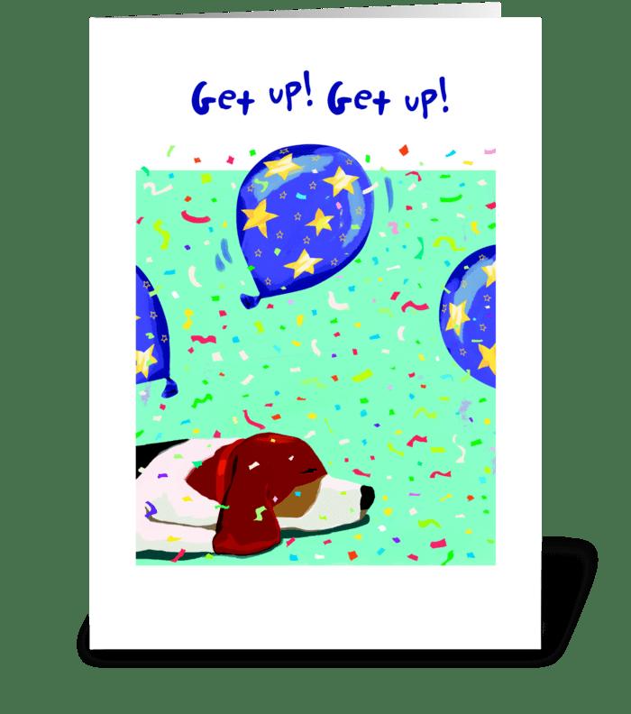 Beagle Birthday greeting card