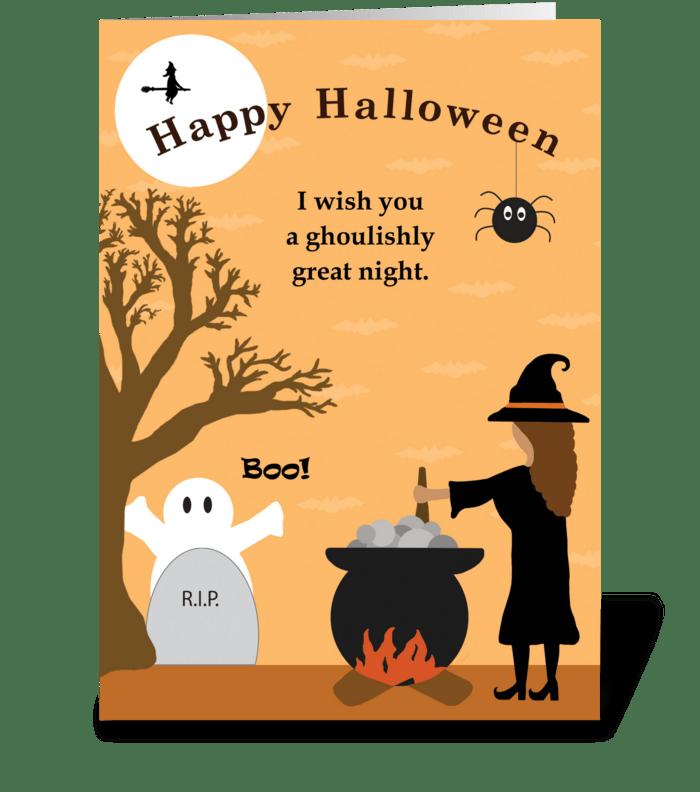 Spooky Halloween Night greeting card