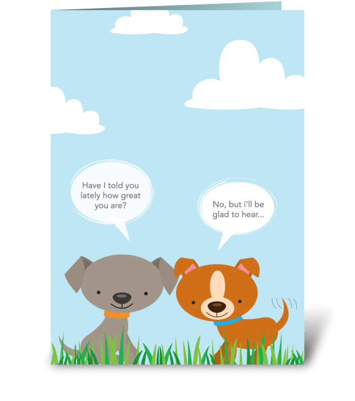 Puppy thanks greeting card