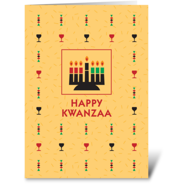 Kwanzaa Kinara Candles greeting card