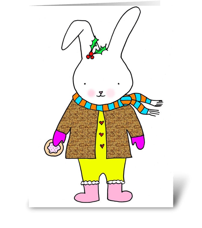 Bunny & Cookie greeting card