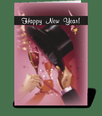 New Year Celebration Toast greeting card