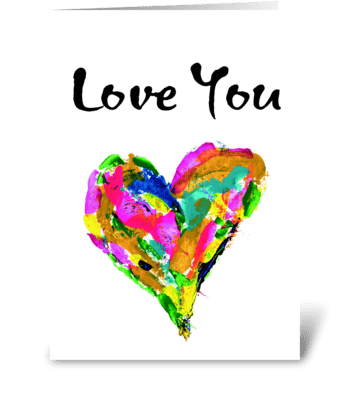 Velntine's Card, Anniversary Card greeting card