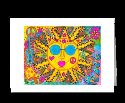 Peace Sunshine greeting card
