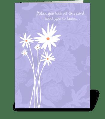 Long Distance Hug greeting card