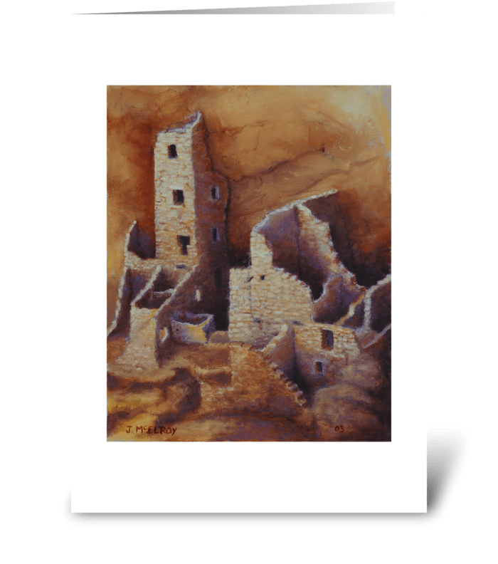 Square Tower, Mesa Verde greeting card