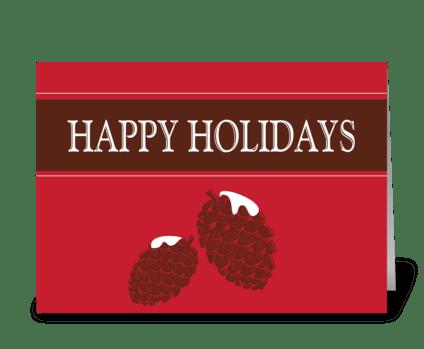 Winter Happy Holidays greeting card