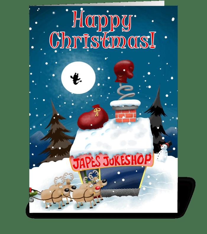 Joke Shop at Christmas greeting card