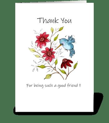 Thank You Friendship Good Friend greeting card