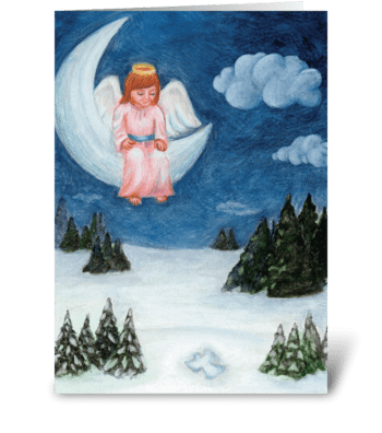 Snow Angel greeting card