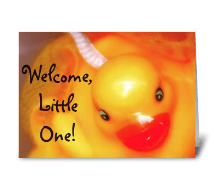 Welcome, Little One greeting card