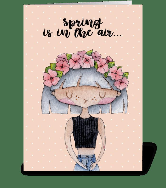Spring card greeting card