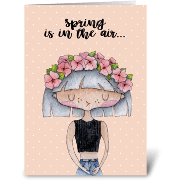 Spring card greeting card