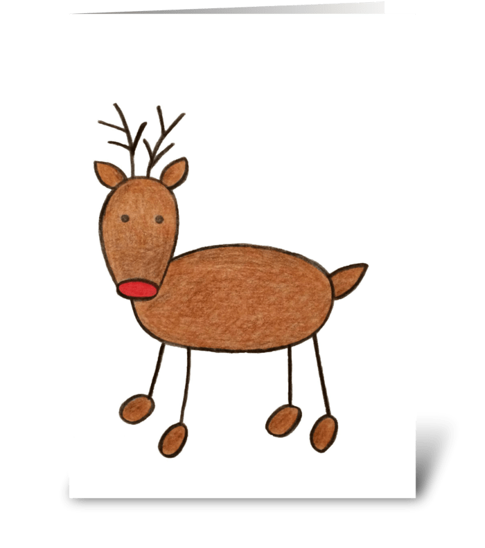 Rudolph greeting card