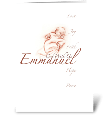 Emmanuel greeting card