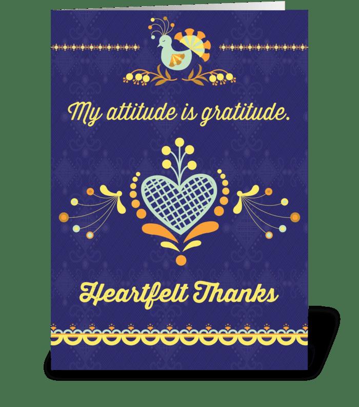 My attitude is gratitude greeting card