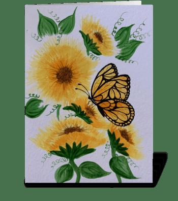 Joyful butterfly  greeting card