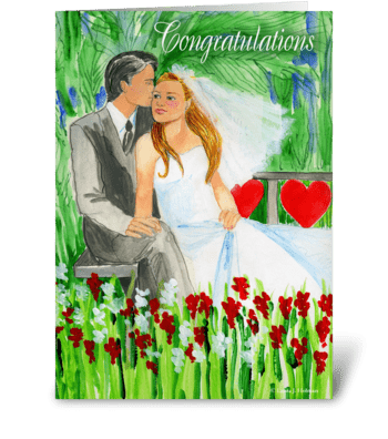 Wedding Congratulations Romantic Couple greeting card