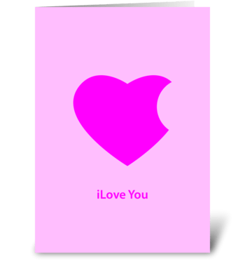 ilove you greeting card