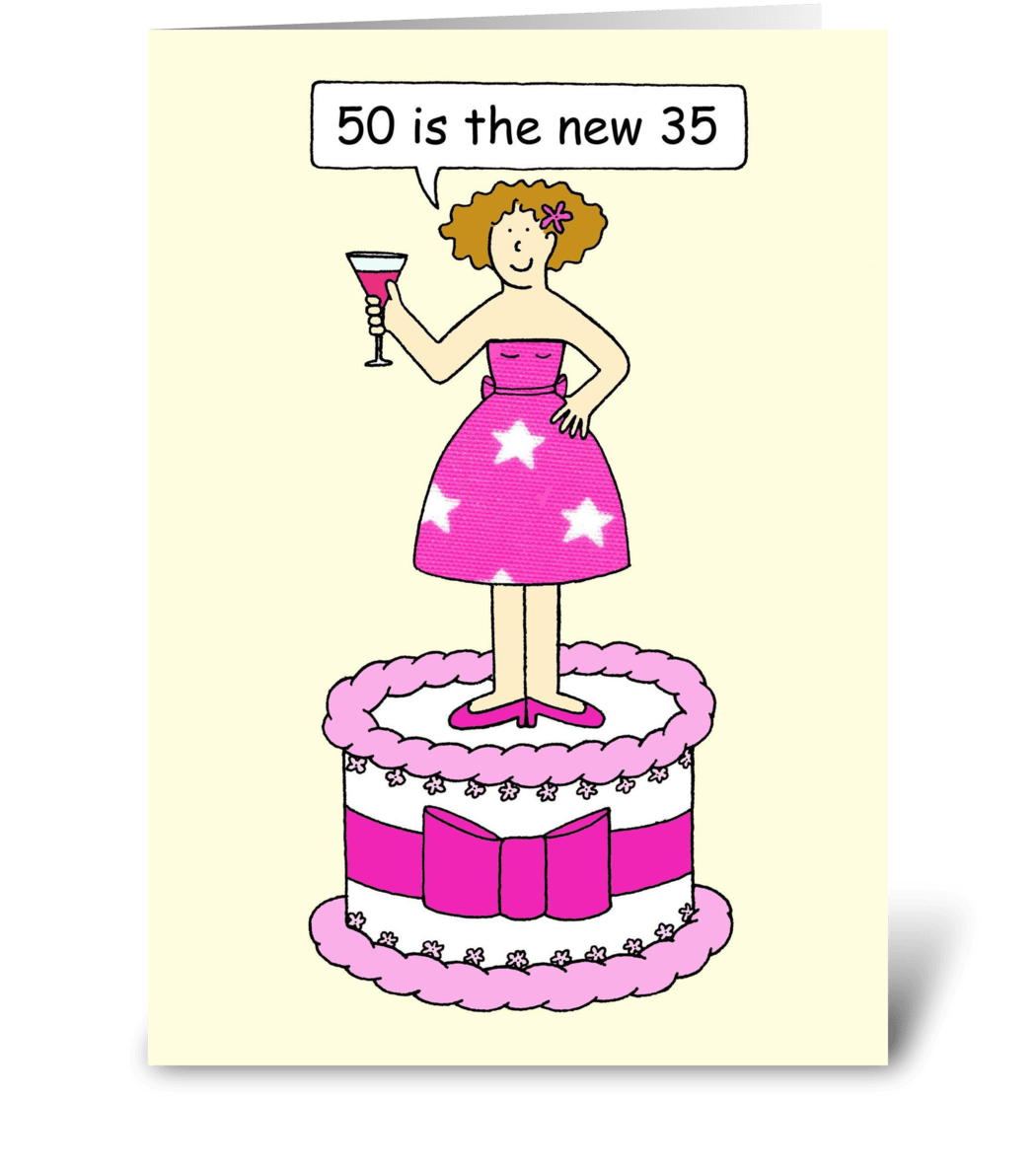 50th Birthday Humor For Her Lady On A Ca