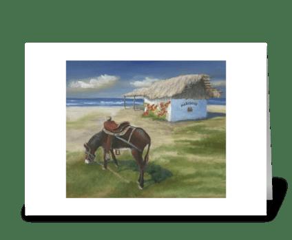 Marisco's in Punta Mita greeting card