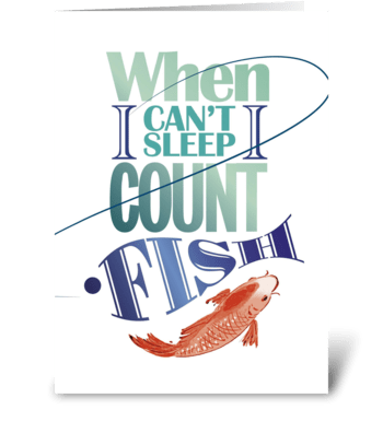 Fishing-sleeping greeting card