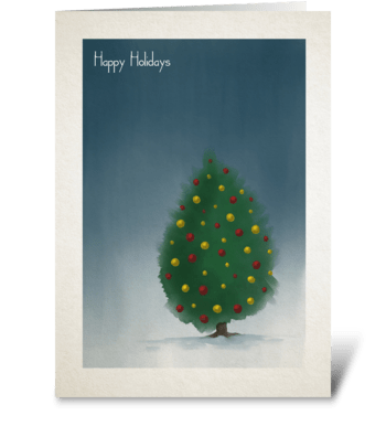 Watercolor Christmas Tree greeting card