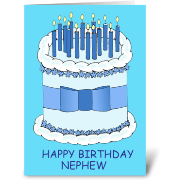 Happy Birthday Nephew. greeting card