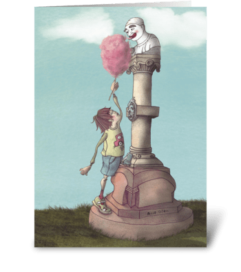 Everybody loves candyfloss greeting card