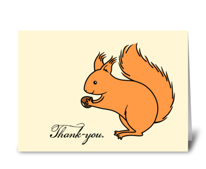 Thank-you Red Squirrel  greeting card